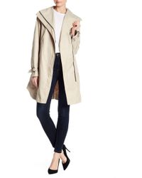 Tahari - Asymmetrical Trench Coat - Lyst