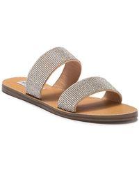 Steve Madden - Ronan Embellished Slide Sandal - Lyst
