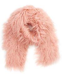 Toria Rose - Genuine Mongolian Lamb Fur Scarf - Lyst