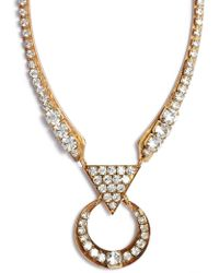 Sandy Hyun - Cutout Crystal Necklace - Lyst