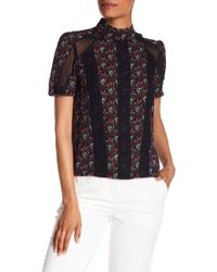 A.L.C. - Laurel Lace Detailed Silk Top - Lyst