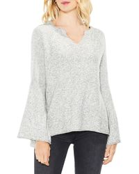 Two By Vince Camuto - Bell Sleeve Ribbed Jumper - Lyst