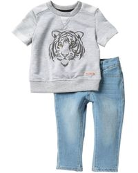 Hudson Jeans - Heathered French Terry Tee Set (baby Boys) - Lyst