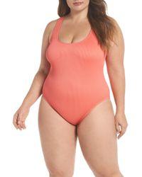 The Bikini Lab - Rib-thym One-piece Swimsuit (plus Size) - Lyst