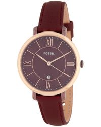 Fossil - Women's Jacqueline Leather Watch, 36mm - Lyst