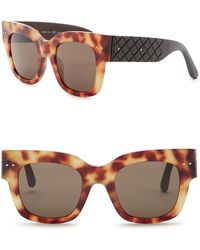 Bottega Veneta - 49mm Studded Square Sunglasses - Lyst