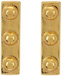 Argento Vivo - 18k Gold Plated Sterling Silver Studded Post Earrring - Lyst