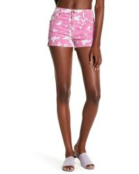 Pistola - Bianca Floral High Rise Shorts - Lyst