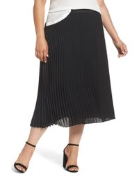 Sejour - Pleated Midi Skirt - Lyst