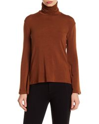 Go Couture - Lace Back Mock Neck Sweater - Lyst