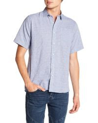 Descendant Of Thieves - Crumpled Stripe Slim Fit Shirt - Lyst