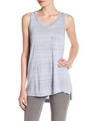 Lush - Slub Striped Knit Tank - Lyst