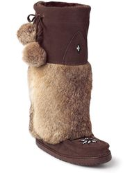 Manitobah Mukluks - Genuine Rabbit Fur & Sheepskin Lined Tall Kanada Mukluk - Lyst