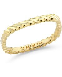 Alor | 18k Yellow Gold Squared Ring - Size 6.5 | Lyst