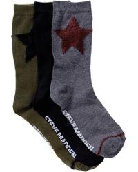 Steve Madden - Star Crew Socks - Pack Of 3 - Lyst