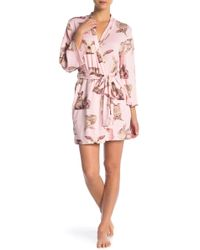 77017a12cbb Lyst - Betsey Johnson Two-piece Lace Heart   Floral Pajama Set in Blue