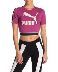 5f5b7e0178517 Lyst - PUMA Women s Graphic T-shirt in White