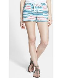 Jolt - Print Cotton Shorts (juniors) - Lyst