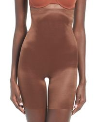 2ee15de46 Lyst - Spanx Oncore High Waist Mid-thigh Shorts in Natural - Save 8%