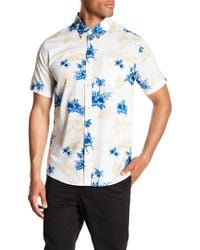 Quiksilver - Vahinies Short Sleeve Regular Fit Shirt - Lyst