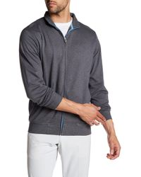 Peter Millar - Heather Interlock Full Zip Sweatshirt - Lyst