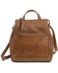 Perlina - Judi Leather Convertible Backpack - Lyst
