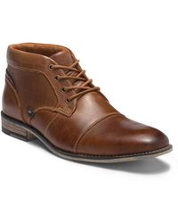 Steve Madden - Kodak Cap Toe Leather Boot - Lyst