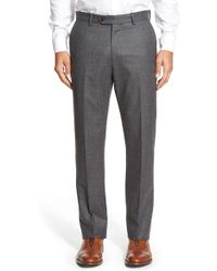 Monte Rosso - Flat Front Houndstooth Wool Trousers - Lyst