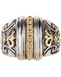 Liberty - 14k Yellow Gold & Sterling Silver Etruscan Ring - Lyst