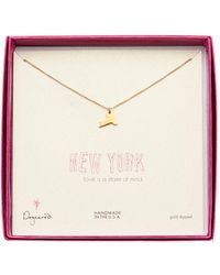 Dogeared - 14k Gold Plated Sterling Silver Infinite Love Infinity Charm Necklace - Lyst
