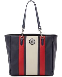 Tommy Hilfiger - Agnes Faux Pebble Leather Tote - Lyst