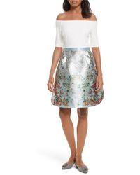 Ted Baker - Dewrose Patchwork A-line Dress - Lyst
