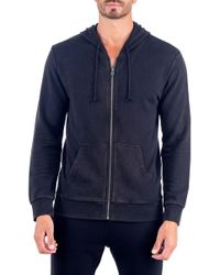 Unsimply Stitched - Stone Washed French Terry Zip-up Hoodie - Lyst