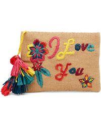 Guadalupe Design - I Love You Clutch - Lyst