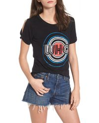 Mimi Chica - The Who Cold Shoulder Graphic Tee - Lyst