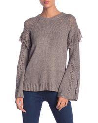 BCBGeneration - Fringe Bell Sleeve Knit Sweater - Lyst