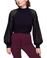 Free People - Sweetest Thing Crochet-sleeve Top - Lyst