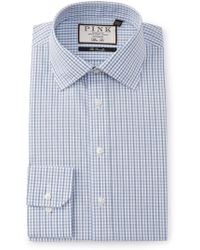 Thomas Pink - Slim Fit Lipson Check Dress Shirt - Lyst
