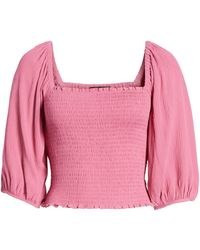 1.STATE - Voluminous Sleeve Top - Lyst