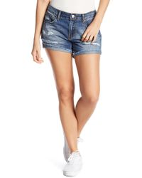 Billabong - Coast Ryder Ripped Denim Shorts - Lyst
