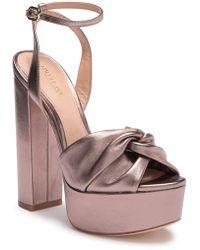 3b56595c1f136f Rachel Zoe - Claudette Leather Platform Sandal - Lyst