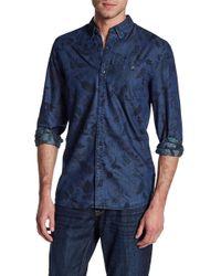 Jon Long Sleeve Large Leaf Print Tailored Fit Shirt Outlet Nicekicks Classic 0yEAbvJoO
