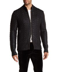 John Varvatos - Sheen Cable Knit Jumper - Lyst