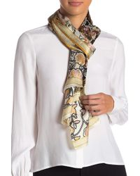 Vince Camuto - Illustrated Paisley Silk Scarf - Lyst
