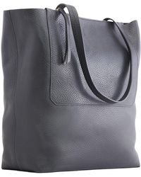 Kiko Leather - Double Zip Leather Tote Bag - Lyst
