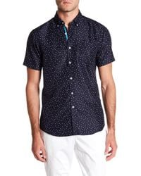 Report Collection - Microtouch Anchor Short Sleeve Slim Fit Shirt - Lyst