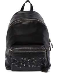 Moschino - Leather Whipstitched Brand Logo Backpack - Lyst