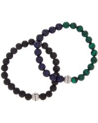 Steve Madden - Multi Beaded Bracelet - Set Of 2 - Lyst