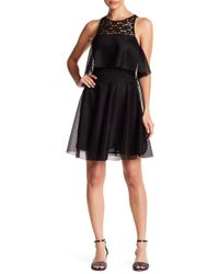 Betsey Johnson - Lace Front Popover Dress - Lyst