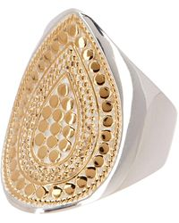 Anna Beck - Two-tone Signature Teardrop Ring - Lyst